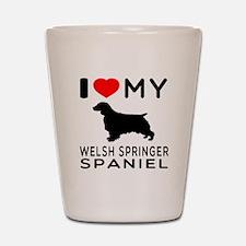 I love My Welsh Springer Spaniel Shot Glass