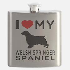 I love My Welsh Springer Spaniel Flask