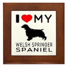 I love My Welsh Springer Spaniel Framed Tile