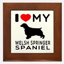 I love My Welsh Springer Spaniel Framed Tile