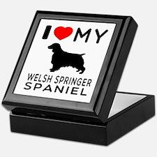 I love My Welsh Springer Spaniel Keepsake Box