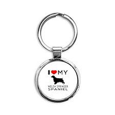 I love My Welsh Springer Spaniel Round Keychain