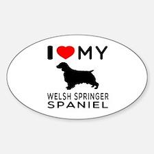 I love My Welsh Springer Spaniel Decal