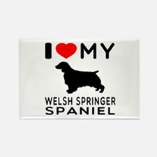 I love My Welsh Springer Spaniel Rectangle Magnet