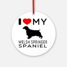 I love My Welsh Springer Spaniel Ornament (Round)