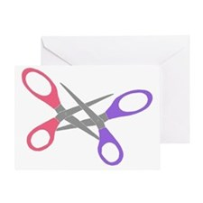scissor-me Greeting Card