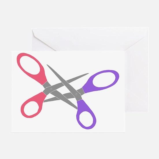 scissor-me Greeting Card