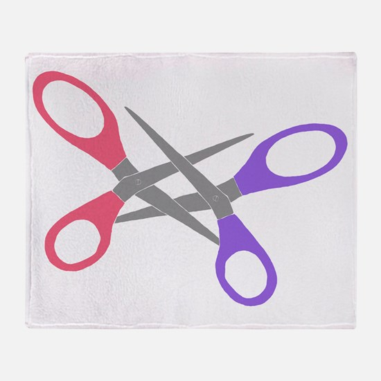 scissor-me Throw Blanket