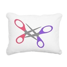 scissor-me Rectangular Canvas Pillow