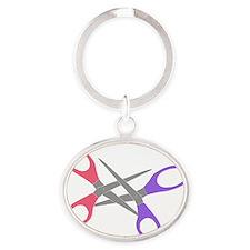 scissor-me Oval Keychain
