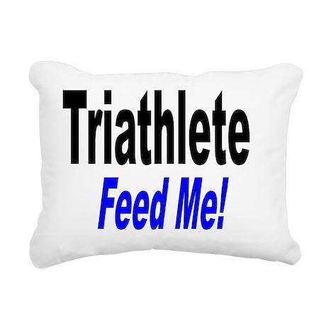 TriathleteFeedMe Rectangular Canvas Pillow