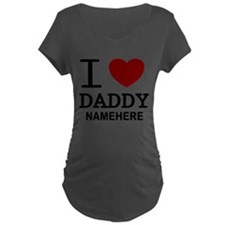 Personalized Name I Heart Daddy T-Shirt