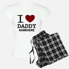 Personalized Name I Heart Daddy Pajamas