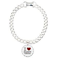 Personalized Name I Heart Daddy Bracelet