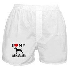 I love My Weimaraner Boxer Shorts