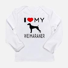 I love My Weimaraner Long Sleeve Infant T-Shirt