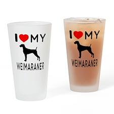 I love My Weimaraner Drinking Glass
