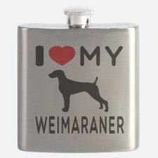 I love My Weimaraner Flask