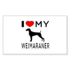 I love My Weimaraner Decal
