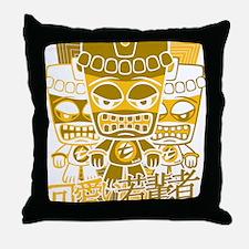TikiTeeStencil8x10 Throw Pillow