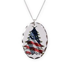 patriotic christmas_front5x7 Necklace