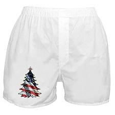 patriotic christmas_front5x7 Boxer Shorts