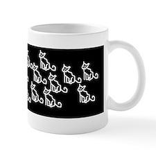 Girl + Family of cats Mug
