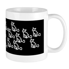 Girl + Family of cats Small Mugs