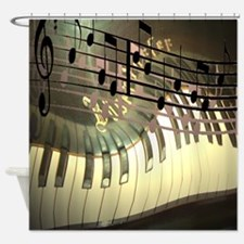 3-pianoabstractbig.jpg Shower Curtain