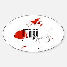 Fiji Diving Sticker (Oval)