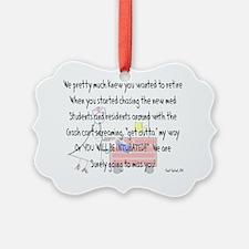 Retired Nurse Story Art Ornament