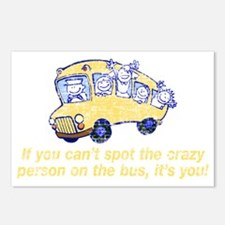 CRAZY BUS BRIGHT Postcards (Package of 8)