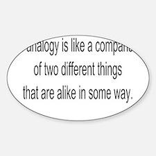 4-analogy-new Sticker (Oval)