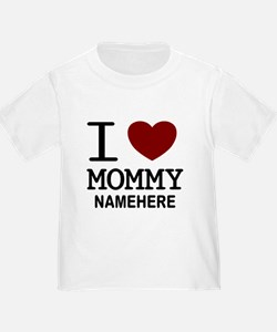 Personalized Name I Heart Mommy T