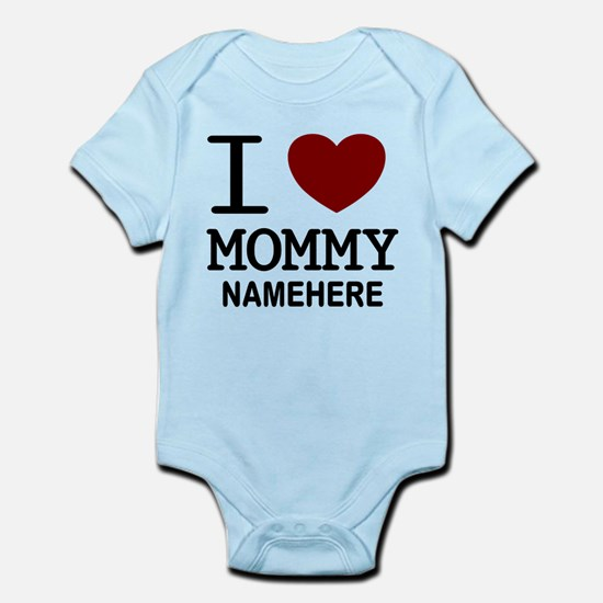 Personalized Name I Heart Mommy Infant Bodysuit