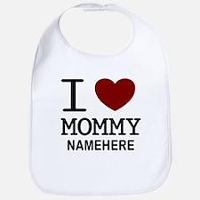 Personalized Name I Heart Mommy Bib
