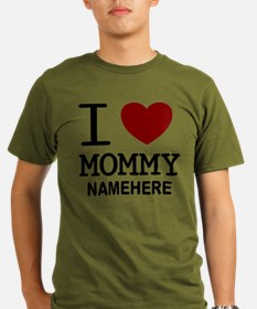 Personalized Name I Heart Mommy T-Shirt