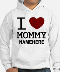 Personalized Name I Heart Mommy Hoodie