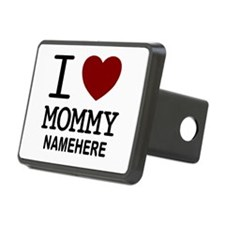 Personalized Name I Heart Mommy Hitch Cover