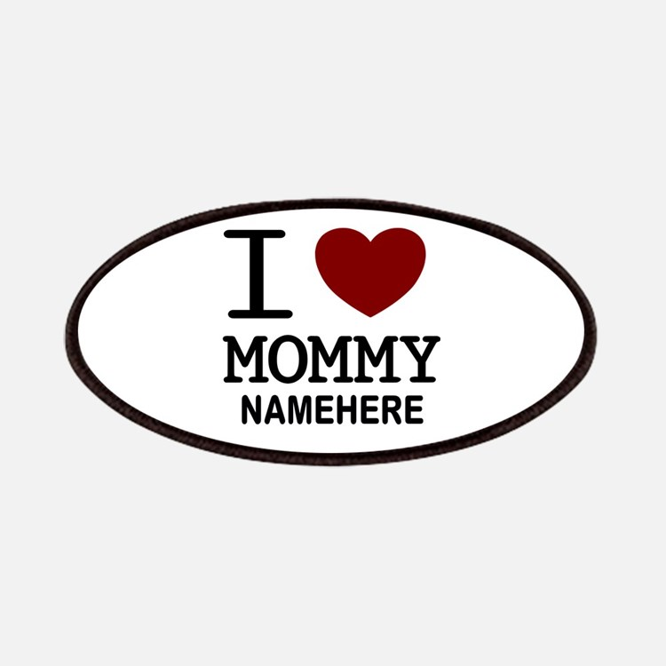 Personalized Name I Heart Mommy Patches