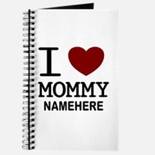 Personalized Name I Heart Mommy Journal