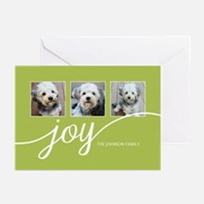 Add 3 Photos Joy Lime Greeting Cards