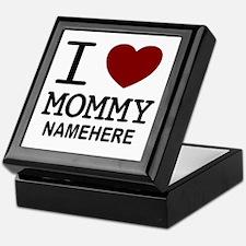 Personalized Name I Heart Mommy Keepsake Box