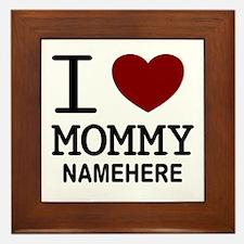 Personalized Name I Heart Mommy Framed Tile
