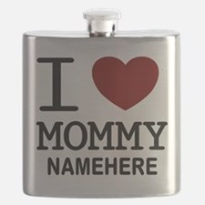 Personalized Name I Heart Mommy Flask
