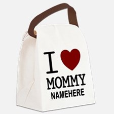 Personalized Name I Heart Mommy Canvas Lunch Bag