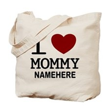 Personalized Name I Heart Mommy Tote Bag