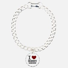 Personalized Name I Heart Mommy Bracelet