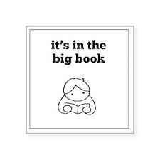 "Big Book Square Sticker 3"" x 3"""