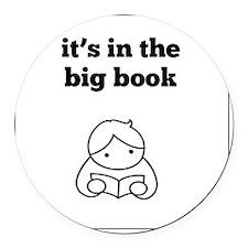Big Book Round Car Magnet